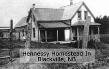 The Hennessy Homestead in Blackville, NB.