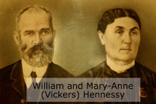 William and Mary Anne (Vickers) Hennessy