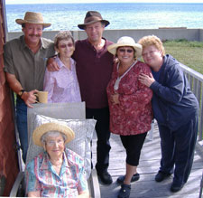 Tom Fahey, Anne (Jarratt) MacDonald, Claude Fahey, Maureen Fahey, Anna (Hennessy) Albert, September, 2006.